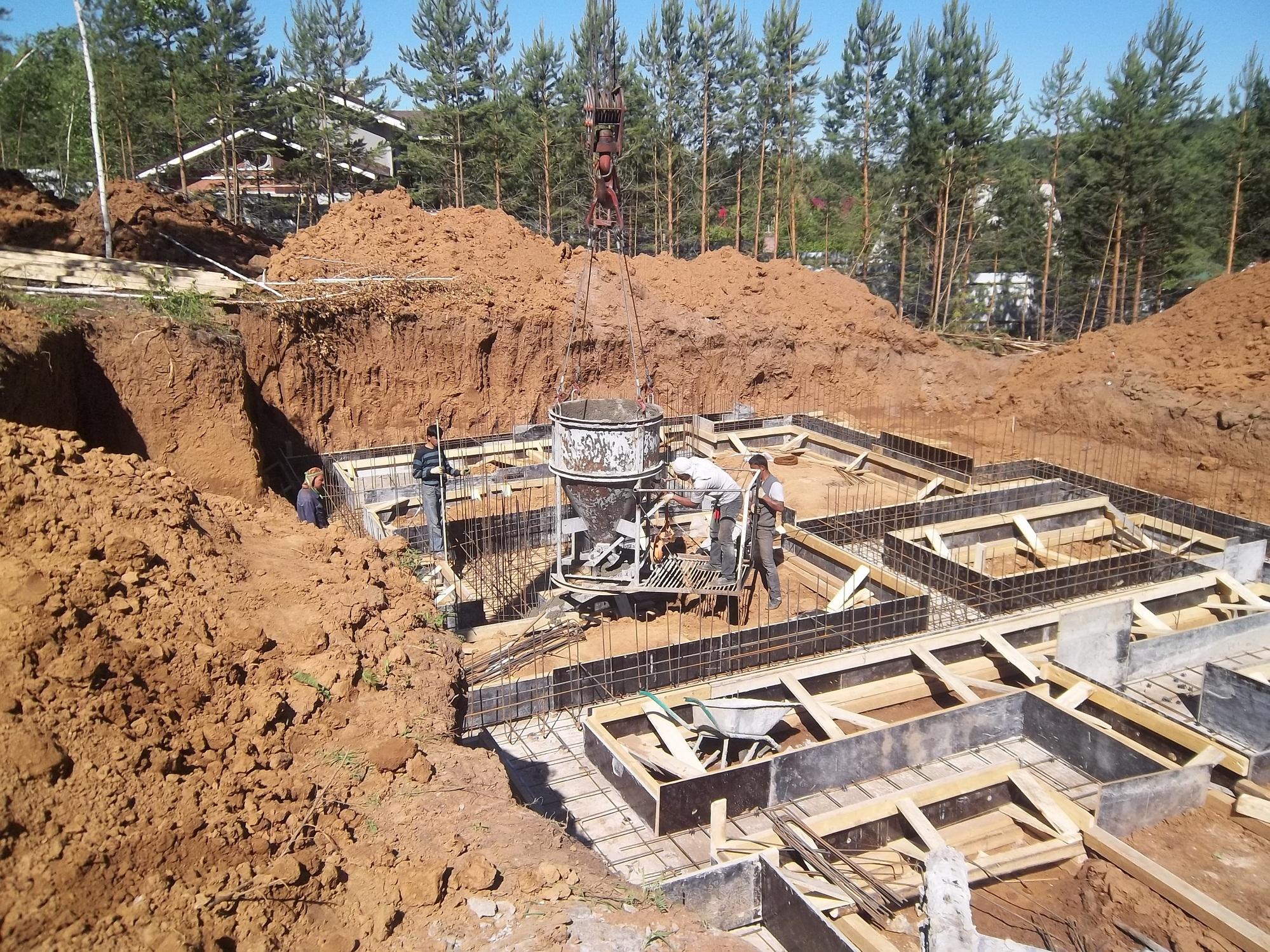 Фото работ по строительству дома 6