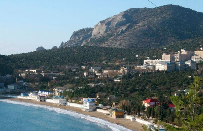 Крым, вид на поселок Новый Свет